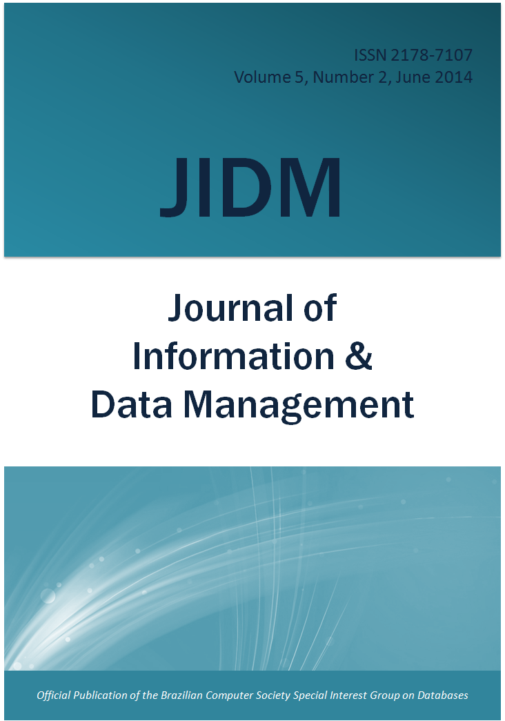 View Vol. 5 No. 2 (2014): JOURNAL OF INFORMATION AND DATA MANAGEMENT