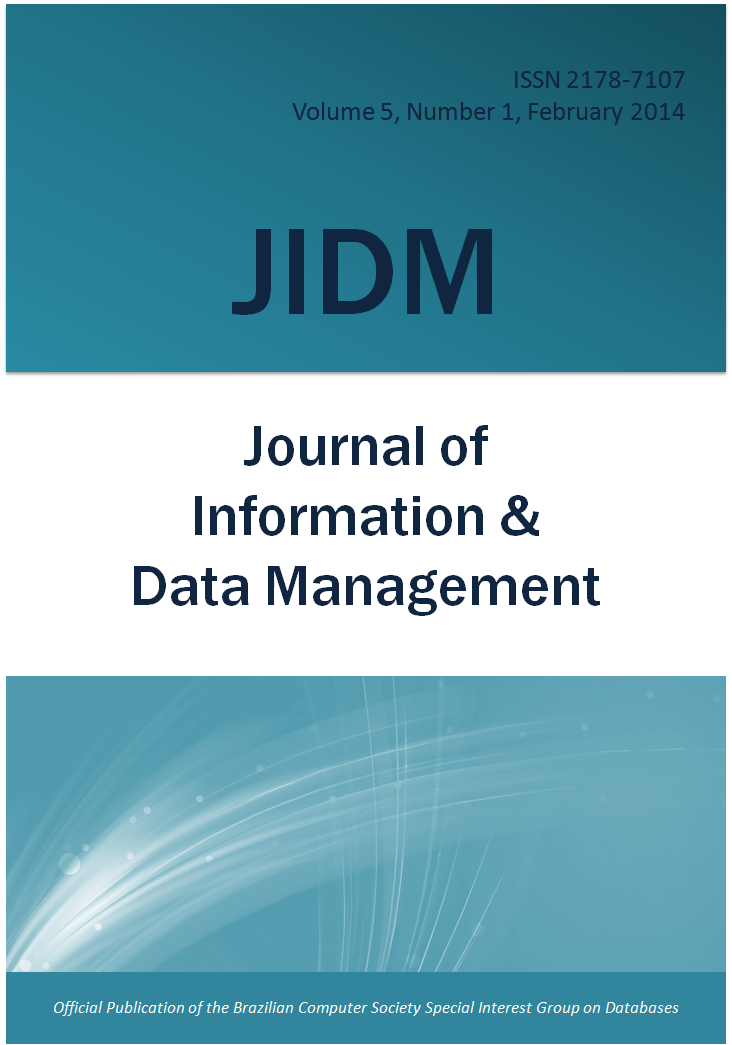 View Vol. 5 No. 1 (2014): JOURNAL OF INFORMATION AND DATA MANAGEMENT