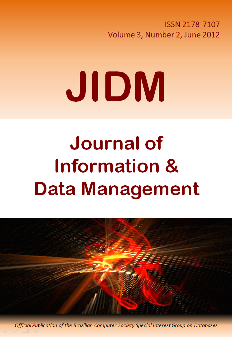 View Vol. 3 No. 2 (2012): Journal of Information and Data Management