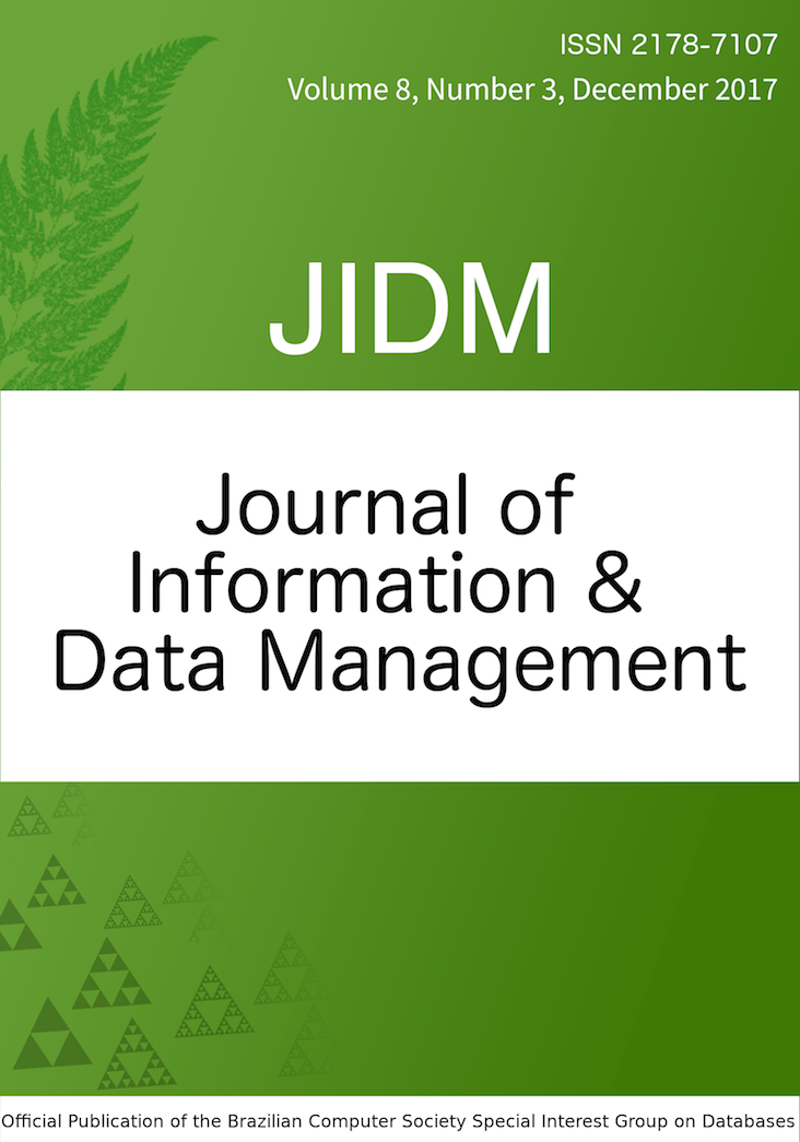 View Vol. 8 No. 3 (2017): JOURNAL OF INFORMATION AND DATA MANAGEMENT