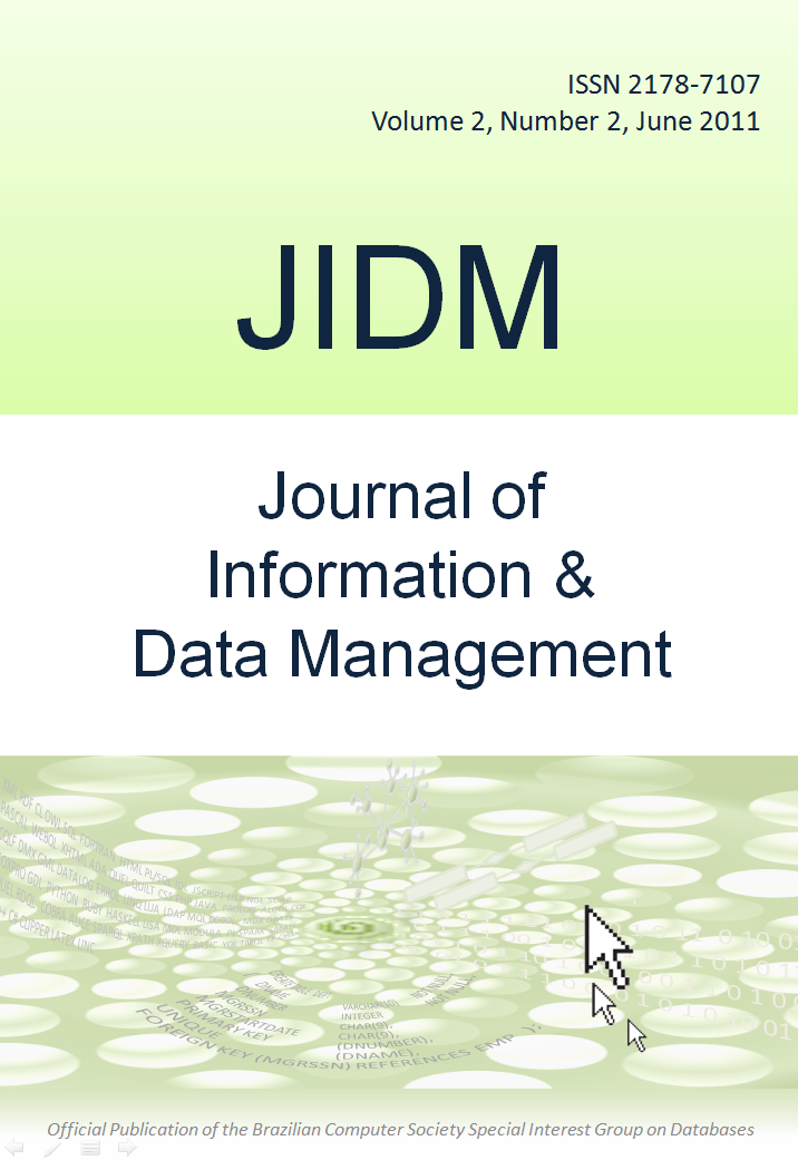 View Vol. 2 No. 2 (2011): Journal of Information and Data Management