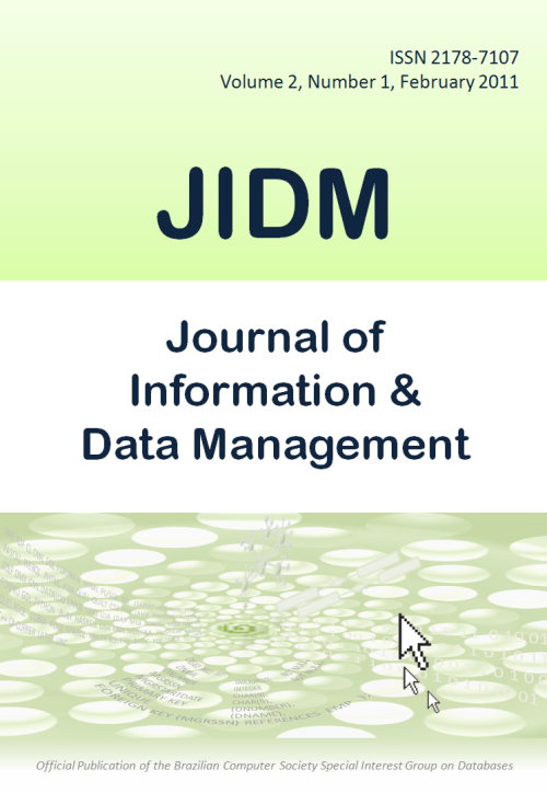 View Vol. 2 No. 1 (2011): Journal of Information and Data Management