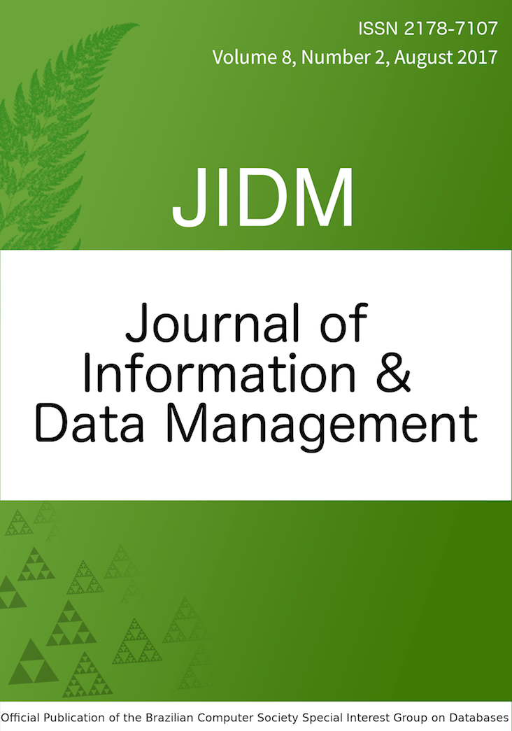 View Vol. 8 No. 2 (2017): JOURNAL OF INFORMATION AND DATA MANAGEMENT