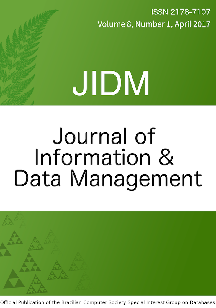 View Vol. 8 No. 1 (2017): JOURNAL OF INFORMATION AND DATA MANAGEMENT