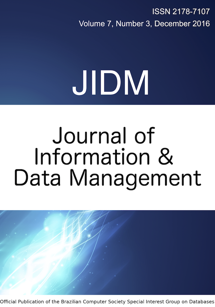 View Vol. 7 No. 3 (2016): JOURNAL OF INFORMATION AND DATA MANAGEMENT