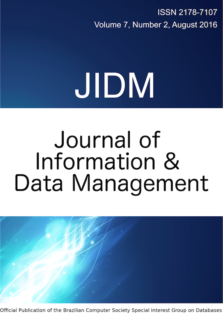 View Vol. 7 No. 2 (2016): JOURNAL OF INFORMATION AND DATA MANAGEMENT