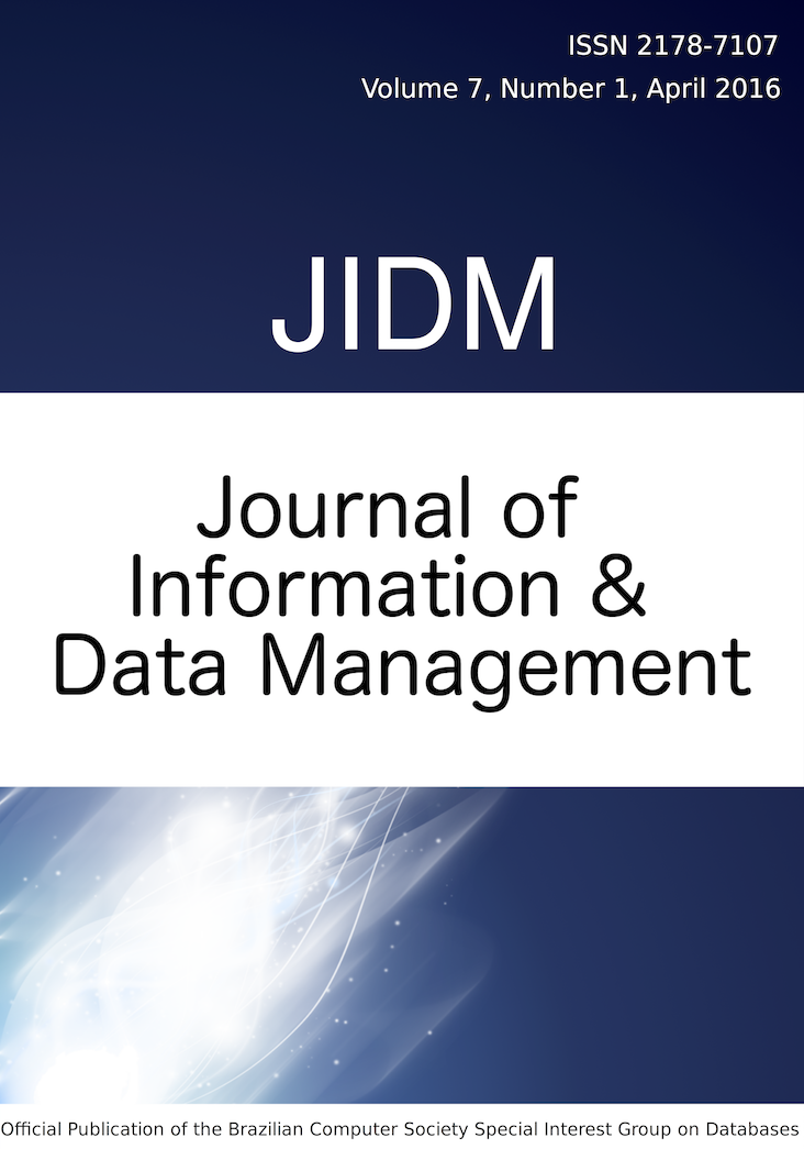 View Vol. 7 No. 1 (2016): JOURNAL OF INFORMATION AND DATA MANAGEMENT