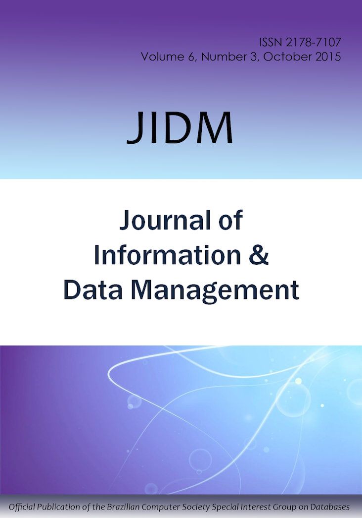 View Vol. 6 No. 3 (2015): JOURNAL OF INFORMATION AND DATA MANAGEMENT