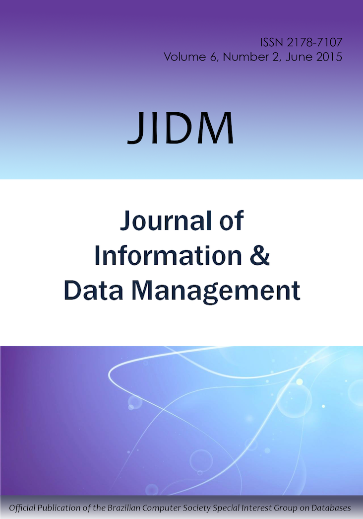 View Vol. 6 No. 2 (2015): JOURNAL OF INFORMATION AND DATA MANAGEMENT