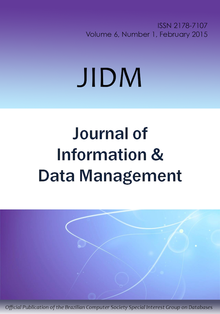 View Vol. 6 No. 1 (2015): JOURNAL OF INFORMATION AND DATA MANAGEMENT