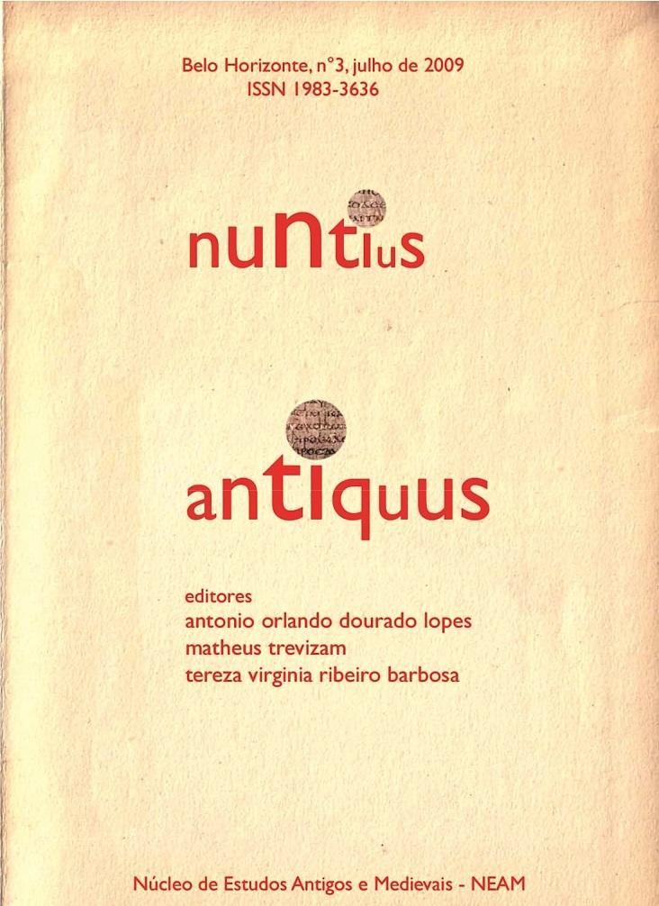 Visualizar v. 3 (2009): Nuntius Antiquus